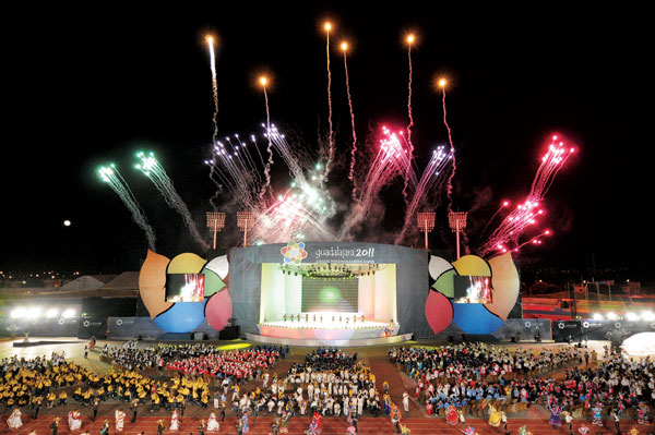 A shot of the opening ceremonies from the Parapan AM Games in 2011