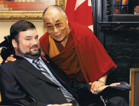 Fletcher with Dalai Lama