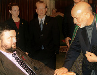 Fletcher with Afgan President Karzai