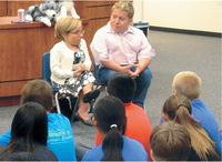 The couple like to give back by visitng schools to talk to kids about bullying