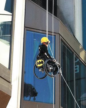 Michelle Amerie channels her inner Batwoman